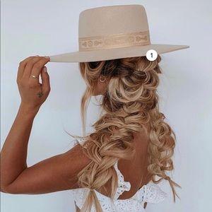 Lack of Color Juno Cream Wool Boater Hat Medium